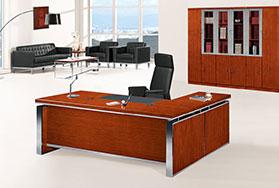 泰柚木经理办公桌,中班台HY-D0620 顺德办公家具网