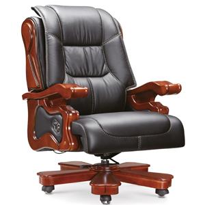 鸿业A-015大班椅 进口牛皮椅
