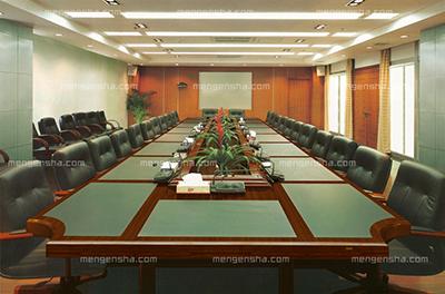实木会议桌 大型接待洽谈桌 8.0米 带皮板 HY-A4080